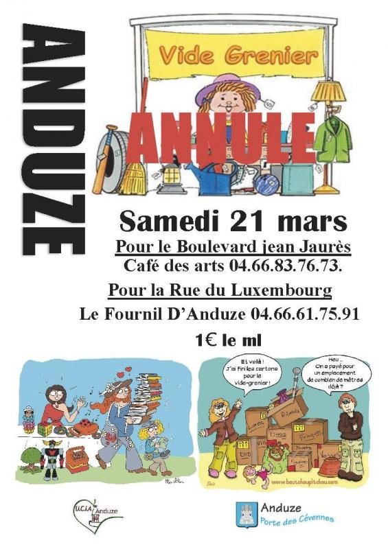 Affiche 21 mars annule
