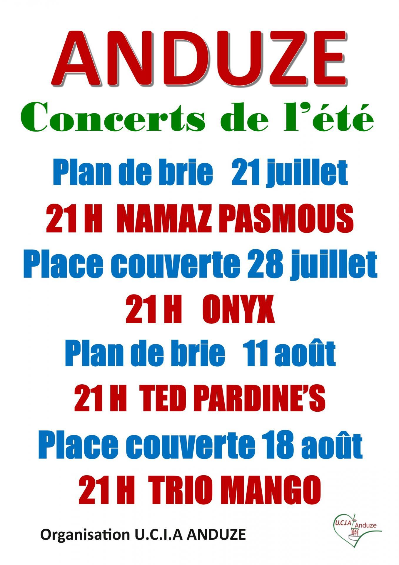 Affiche concerts de l ete 2017