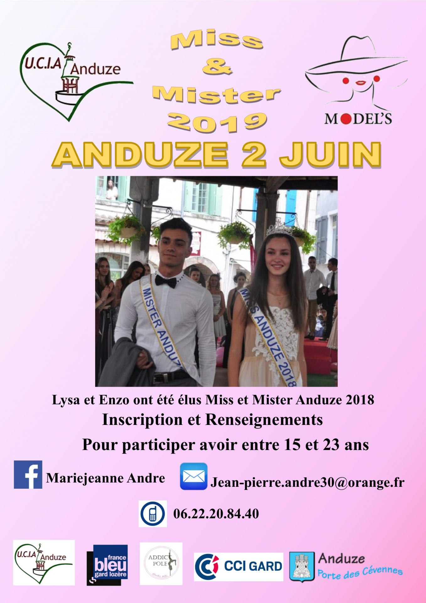 Affiche inscription miss et mister 2019