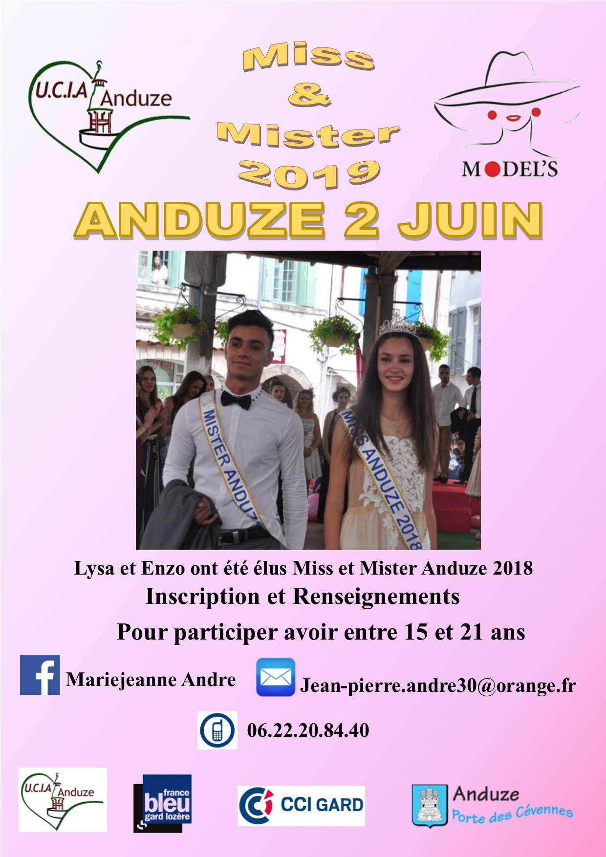 Affiche inscription miss et mister 2021